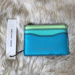 Marc Jacobs blue teal and green card holder